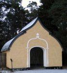Portal vid Söderby sjukhus begravningsplats Foto: Kari Ansnes, 2014